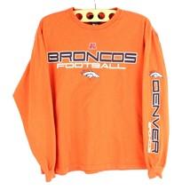 NFL Broncos De Denver Vintage T-Shirt a Manica Lunga Braccio Spellout TA... - $21.45