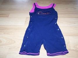 Size Small 6-7 Jacques Moret Navy Blue Pink Dance Unitard Leotard DANCER... - $16.00