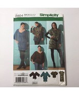 Simplicity 2804 Size 4-12 Misses' Knit Mini Dress Top Tie Belt - $11.64