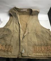 Vintage JC Higgins Sears  Hunting Vest Shotgun Shells Mens Tan Cotton Di... - $24.75