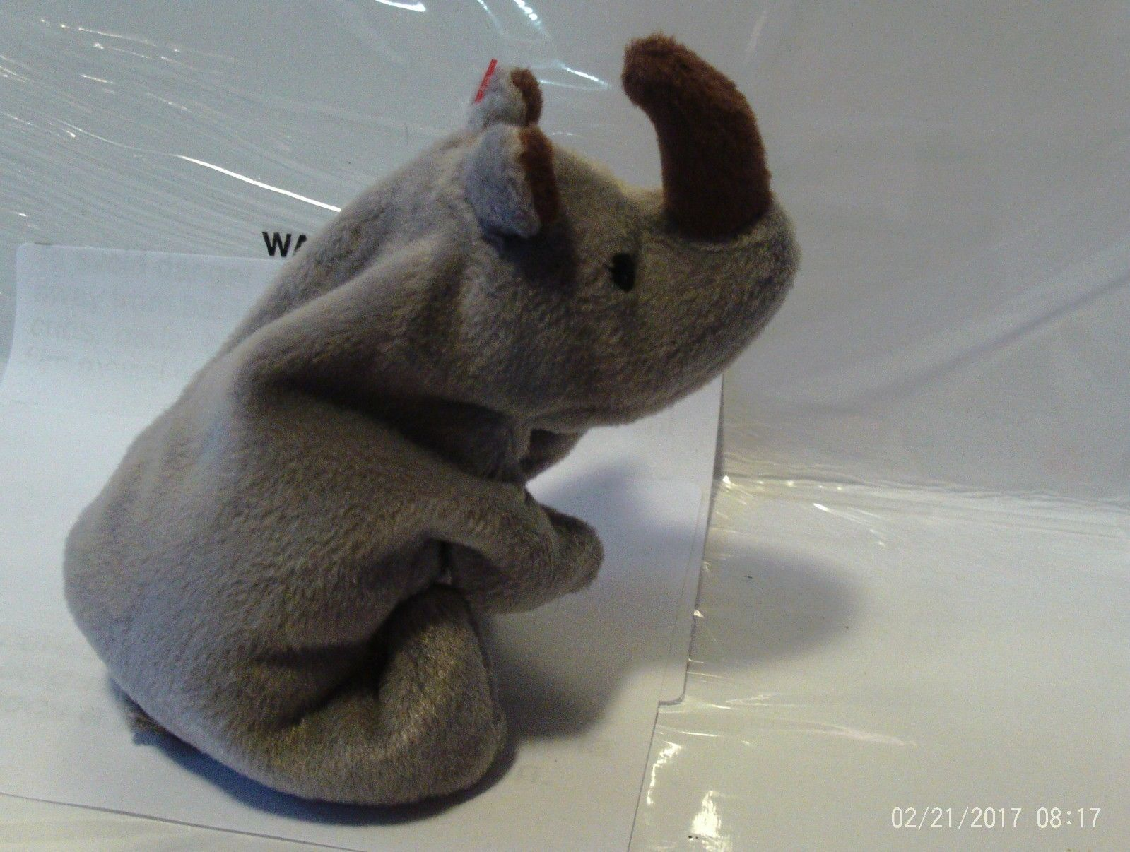 1ST Edition Beanie Babies Rare Spike the Rhino, No star, No stamp, PVC