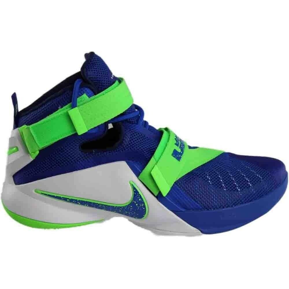 Nike Lebron IX 9 Soldier Sprite Game Blue/Green 749417-601 Mens Basketball