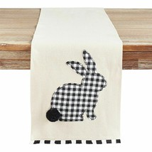 NWT Pier 1 Imports GINGHAM PLAID  Easter RABBIT Table Runner 13 x 72 - $39.59