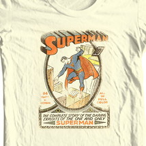 Superman T-shirt vintage golden age DC comic superhero graphic cotton tee DCO168 image 1