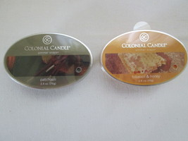 2 Colonial Candle Snaps/Tarts PATCHOULI & TOBACCO HONEY - $7.00