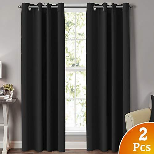 Turquoize Black Extra Long Curtains For Patio Door Thermal