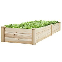 BCP Wooden Raised Vegetable Garden Bed Patio Backyard Grow Flowers Planter - €89,45 EUR