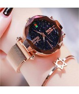 COXRY Starry Sky Watch Women Stainless Steel Magnetic Watch Bracelet Wom... - $23.44