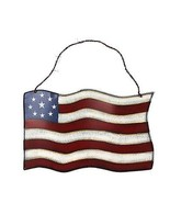 Metal American Glory Flag Wall Art Memorial Day/July 4th Decor Large  - $17.72