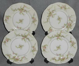 Set (4) Theodore Haviland Rosalinde Pattern Dessert/B&B Plates New York - $39.59