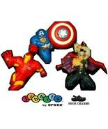 Jibbitz Marvel Avengers Assemble Crocs Shoe Charms - 3 Pcs. in 1 Box - $12.38