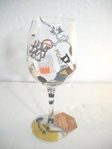 Lolita DIVORCE Hand Painted Wine Glass recipe on bottom New with tag - $17.64