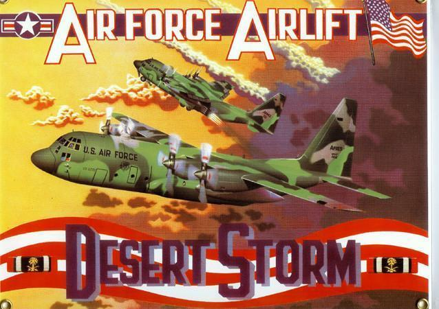 Air Force Airlift Desert Storm United States Armed Forces Porcelain Sign