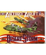 Air Force Airlift Desert Storm United States Armed Forces Porcelain Sign - $40.00