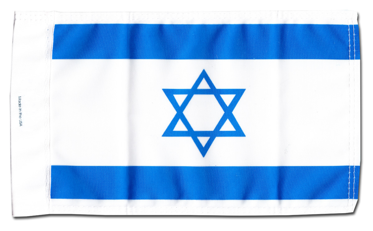"Primary image for Israel - 5.5"" x 8.5"" Motorcycle Flag"