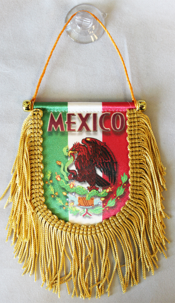 Primary image for Mexico Window Hanging Flag (Shield)