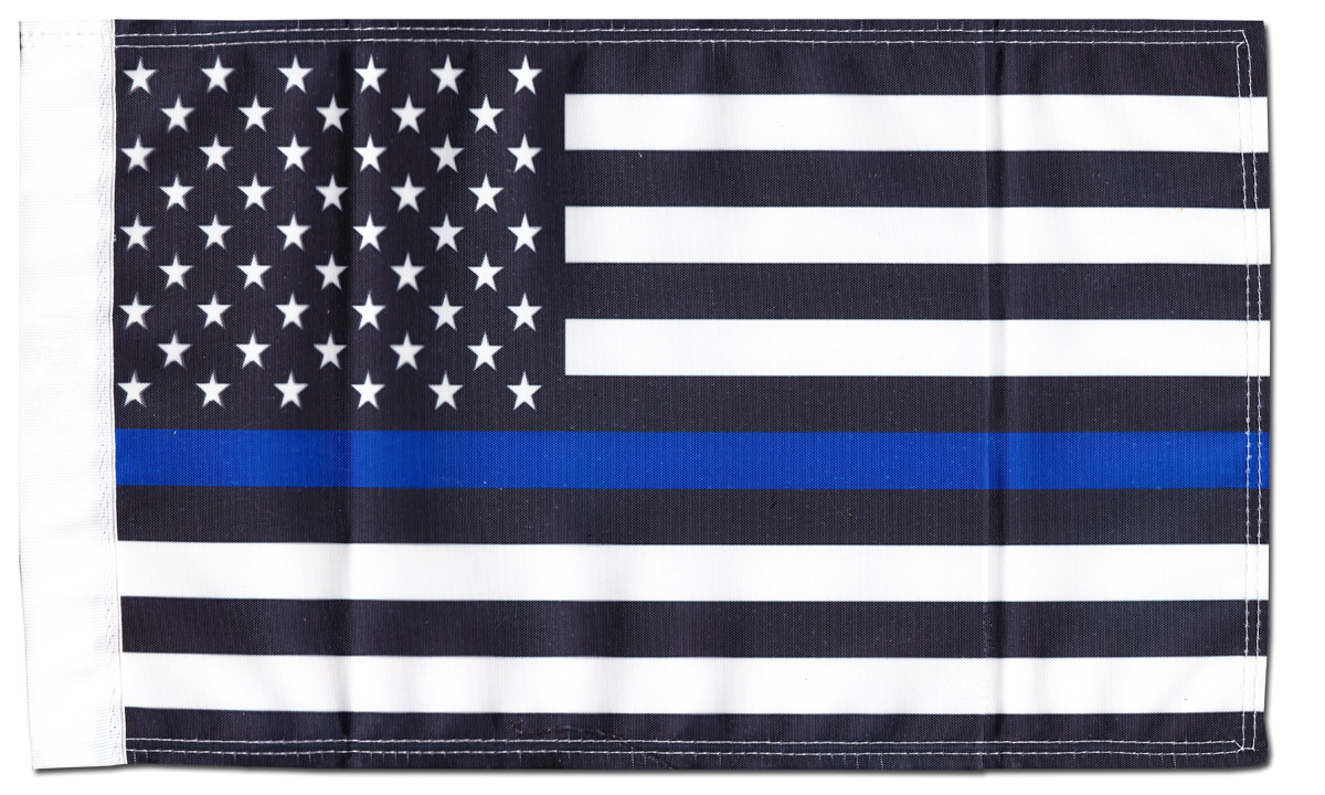 "Primary image for Thin Blue Line (USA) - 9"" x 13"" Motorcycle Flag"