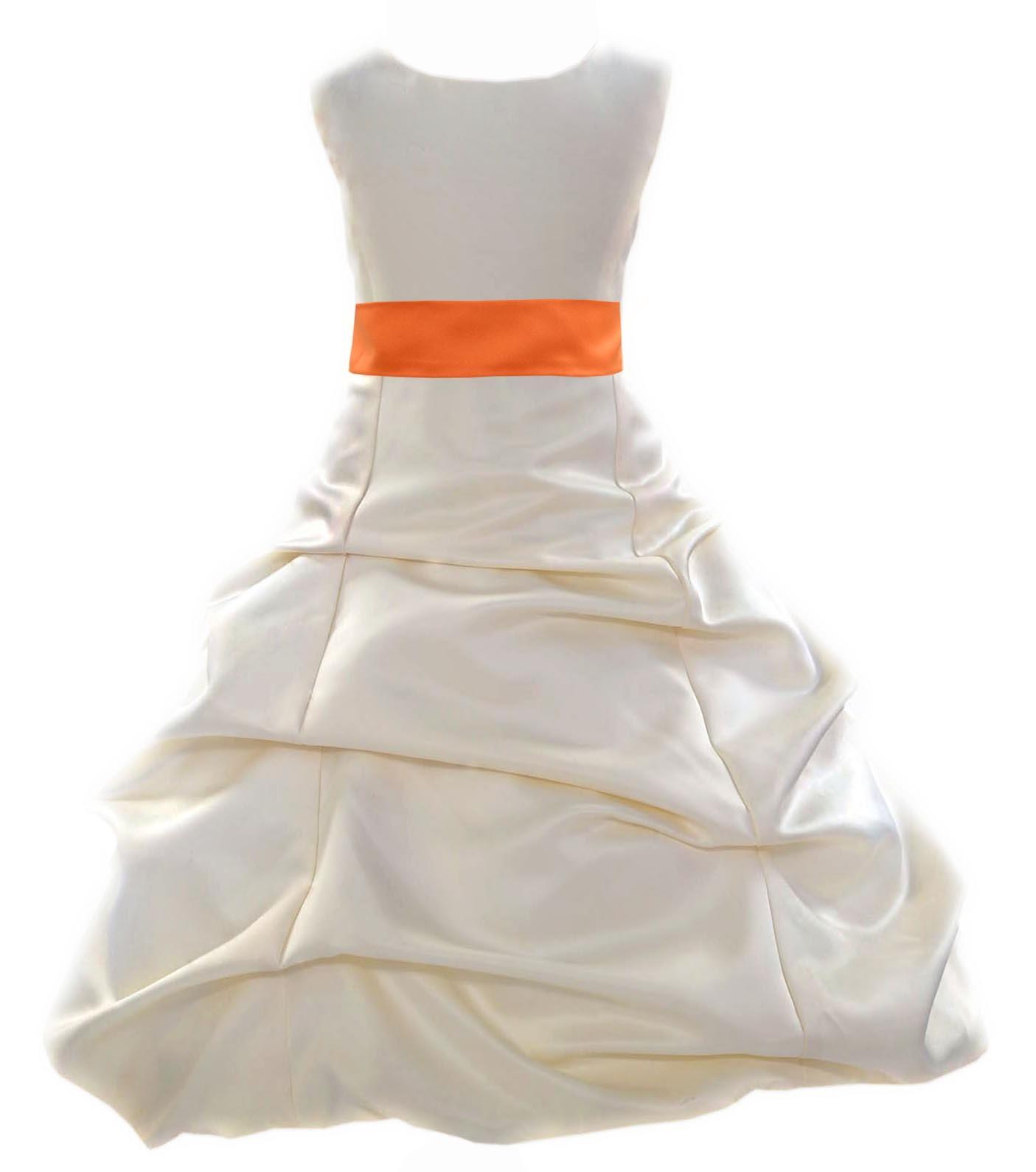 b0850e4e3f1 Ivory And Orange Flower Girl Dresses