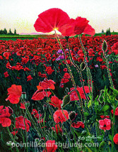 Poppies art print  - $20.00