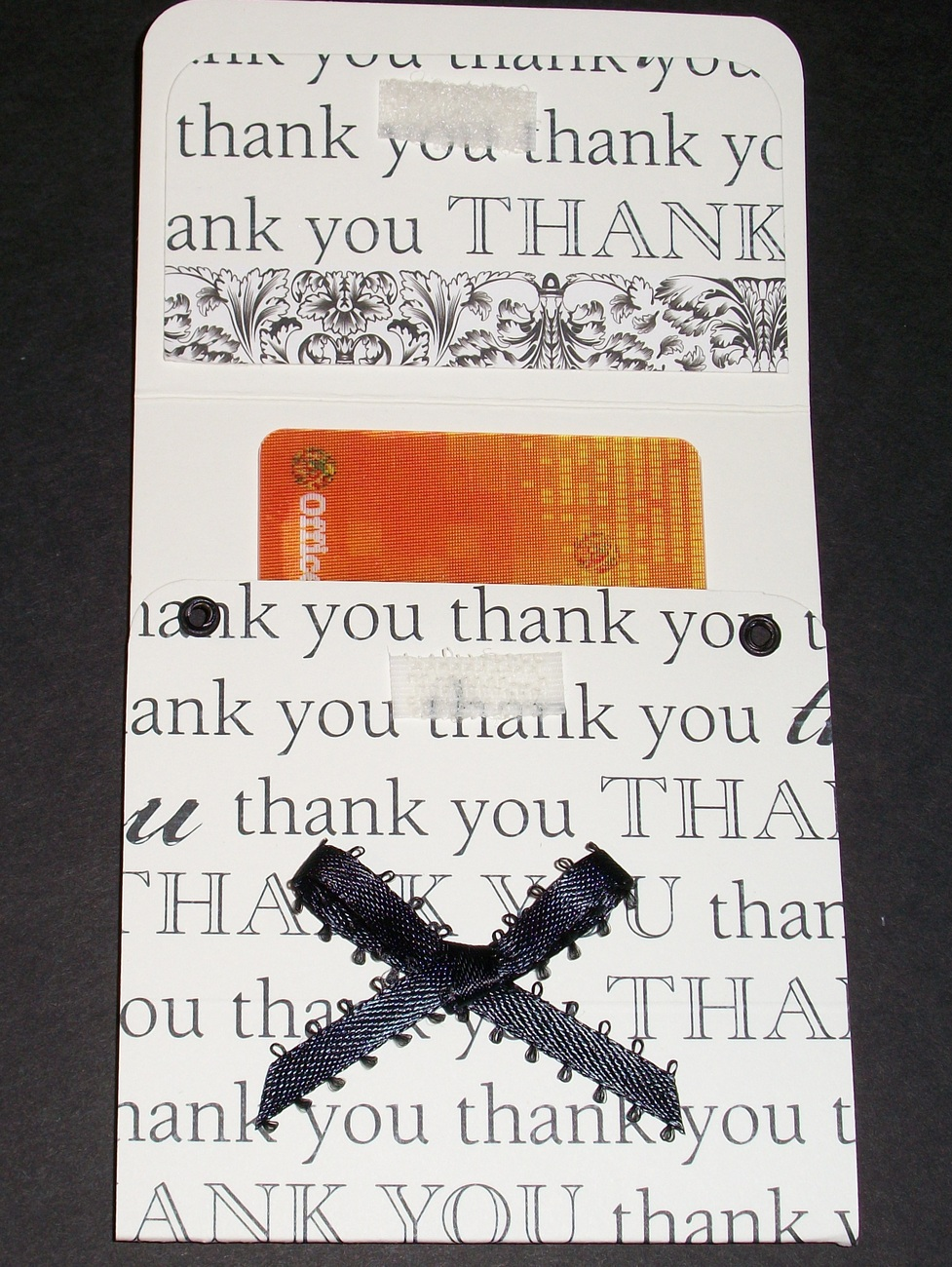 Thank You Gift Card Holder money holder birthday handmade Crazy Annie's Stitchin