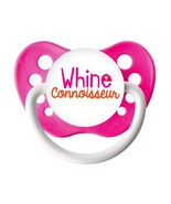 Whine Connoisseur Pacifier - Girl Pacifier - Neon Pink - Ulubulu - 0-6 m... - $9.99