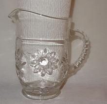 Vintage Clear Glass Star of David Anchor Hocking Prescut Creamer Small P... - $16.83