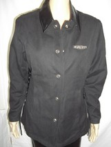 Harley Davidson Snap Front Jacket-Faux Suede w/Leather Trim-Womans' Medi... - $42.99