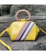 Tory Burch Half Moon Stripe Mini Leather Satchel - $425.00