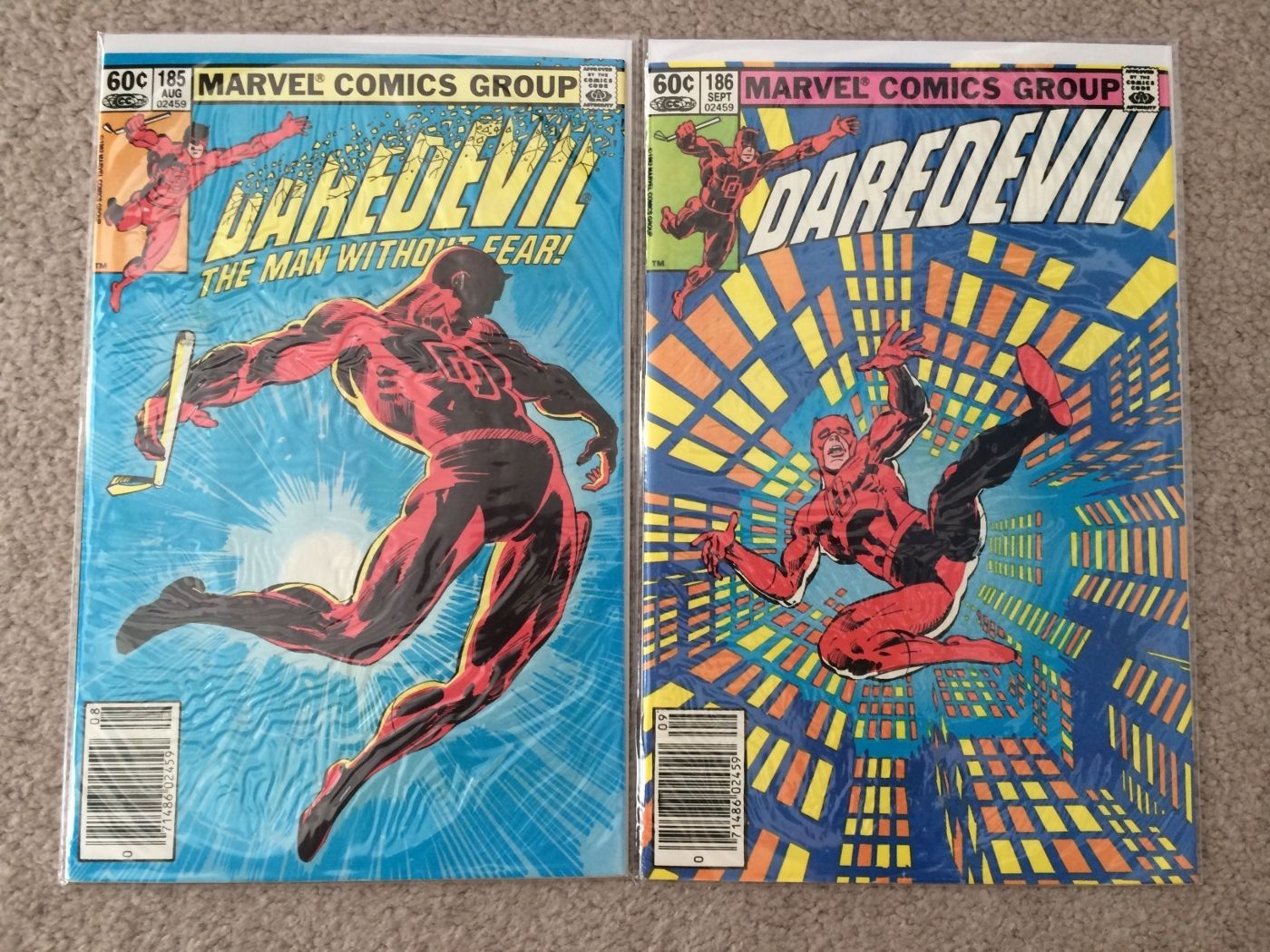 Primary image for Daredevil # 185 - 192 (Marvel - lot of 8 - Frank Miller)