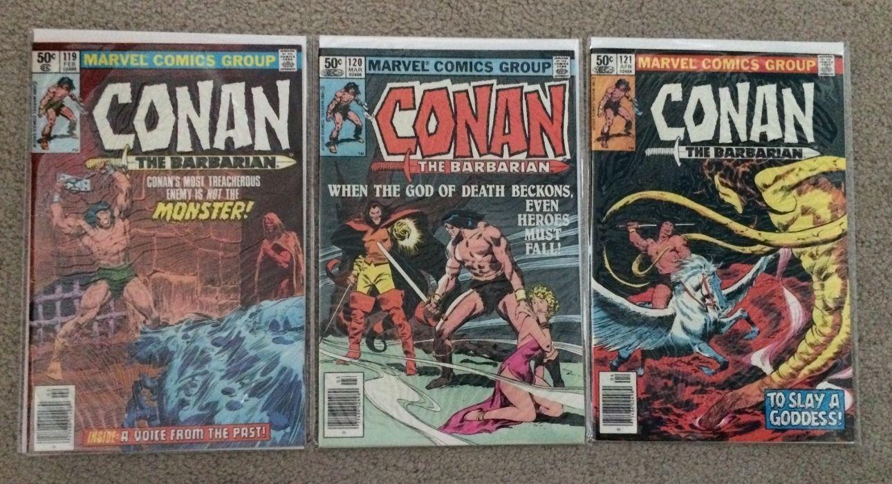 Conan the Barbarian #50 VG 1975 Stock Image Low Grade