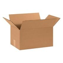 "Aviditi 15108 Corrugated Box, 15"" Length x 10"" Width x 8"" Height, Kraft Bundle o"