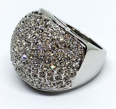 Melania Trump Jewelry Dome Ring Silver tone wit... - $37.40
