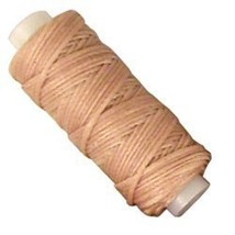 Tandy Leather Waxed Braided Cord 25 yds. (22.9 m) Beige - $9.95