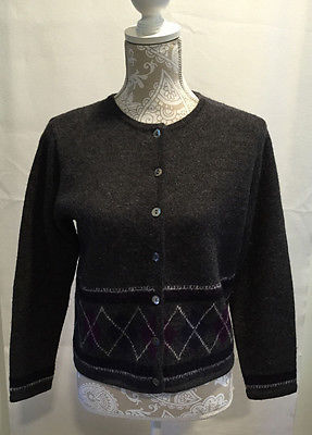 Primary image for Karen Scott Petites 100% Wool Button Up Career Casual Cardiagan Sweater Size PS