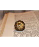 Popping Party Ring w/ gold & white Confetti Clear Resin Handmade Stateme... - $9.99