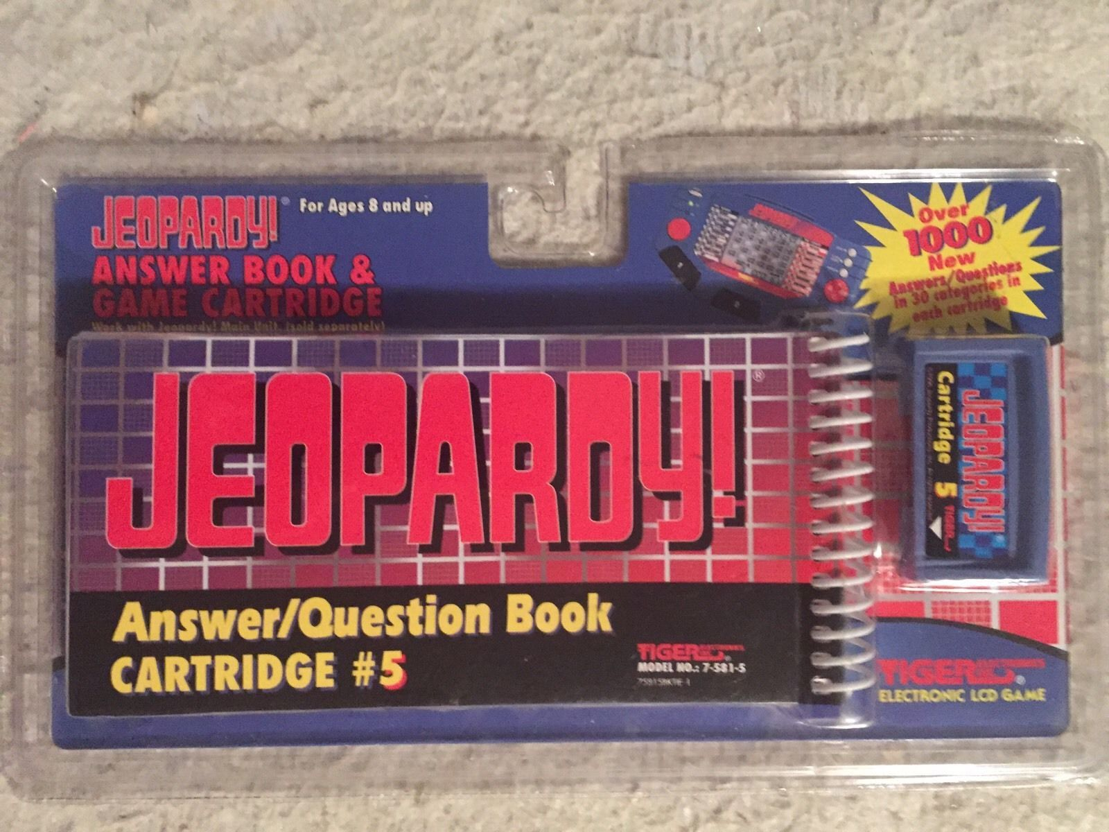 Primary image for JEOPARDY ANSWER BOOK & GAME CARTRIDGE #4 (1995, TIGER ELECTRONICS) NEW