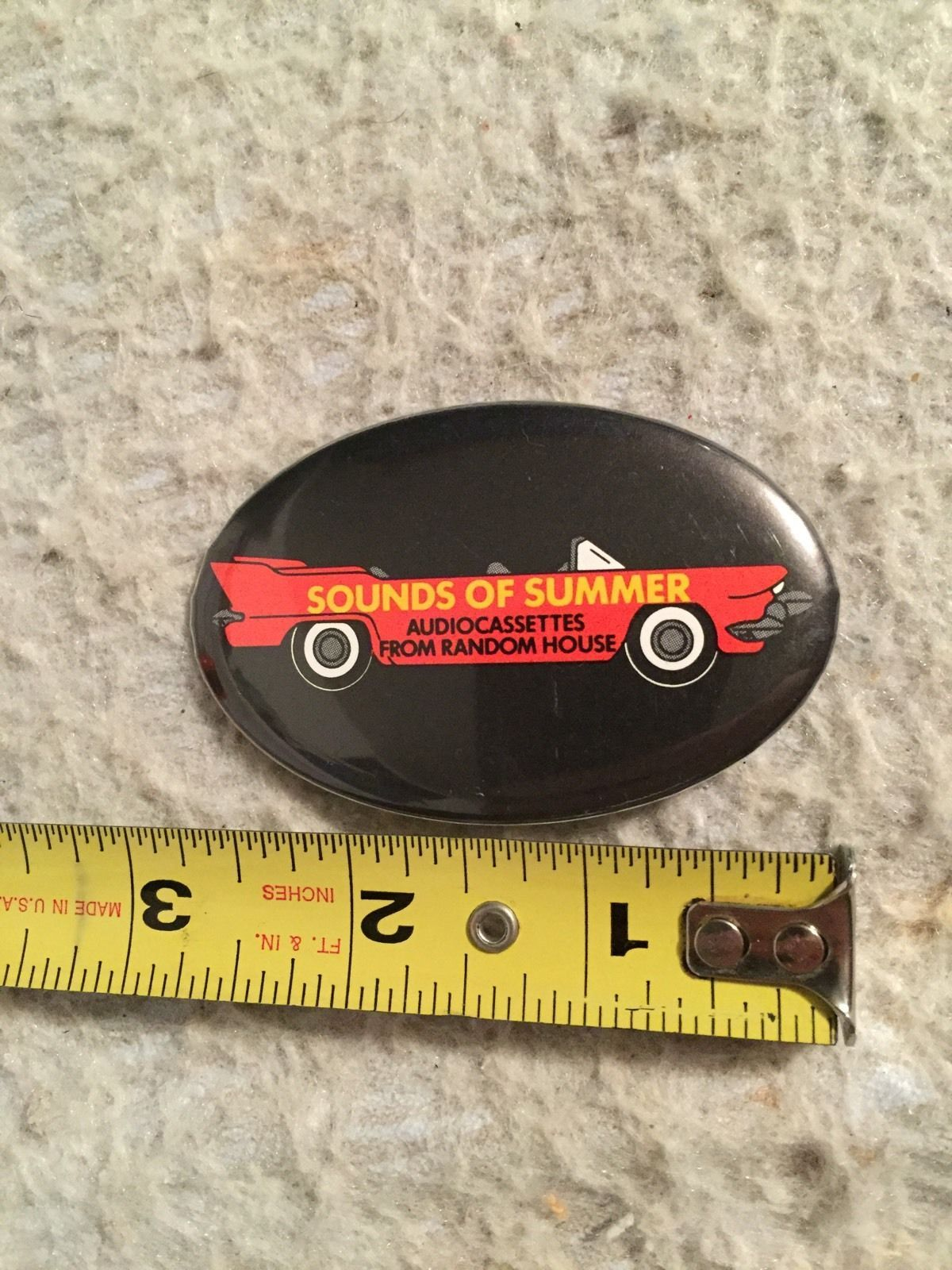 Primary image for Vintage Sounds of Summer Audiocassettes Random House Pin Back Button. Music.