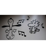 METAL WALL ART DANCING SNOOPY AND WOODSTOCK SET BY HGMW - $31.49