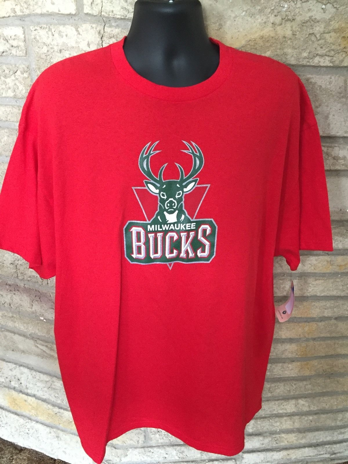 Primary image for Monta Ellis Milwaukee Bucks T Shirt. SZ 2XL. #11 Red NBA Majestic. NWT