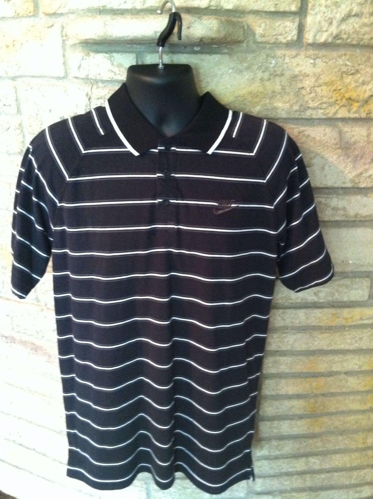 e6ea5145 S l1600. S l1600. Previous. Men's NIKE Golf Fit Dry Short Sleeve Polo Shirt  size Large EUC. Black W/