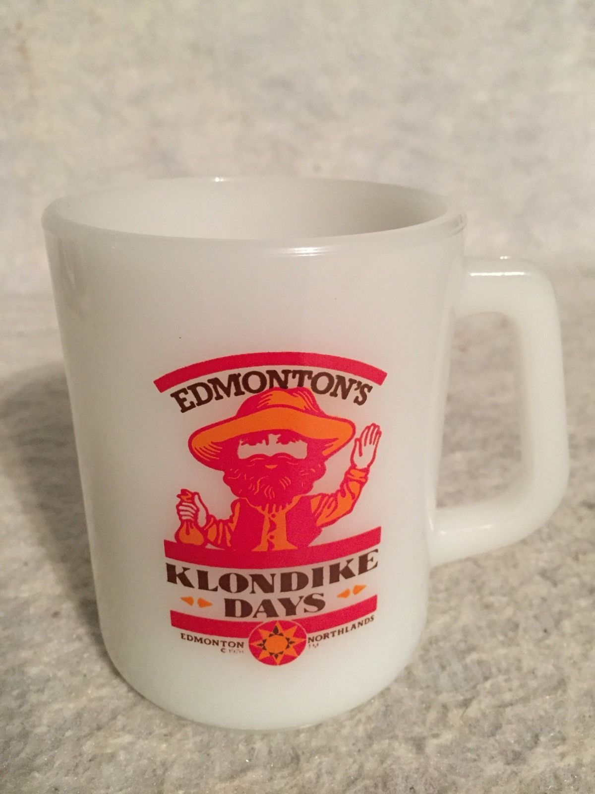 Primary image for 1978 Glass bake Mug. Edmonton's Klondike Days. Northlands. Orange  Red.