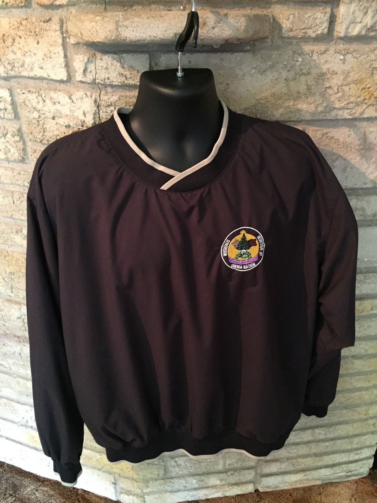 Primary image for Sovereign Oneida Nation Of Wisconsin Pullover Windbreaker Jacket Coat. Sz Large