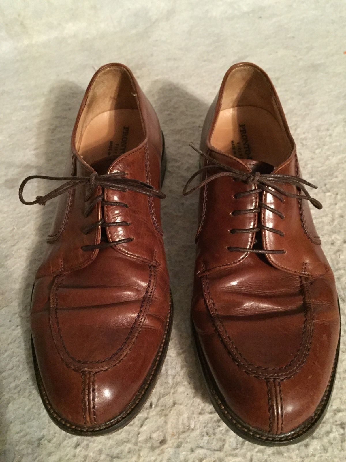Primary image for MEN'S PRONTO UOMO FIRENZE ITALIAN 8.5 M OIL TANNED OXFORD LACE SHOES SPLIT TOE