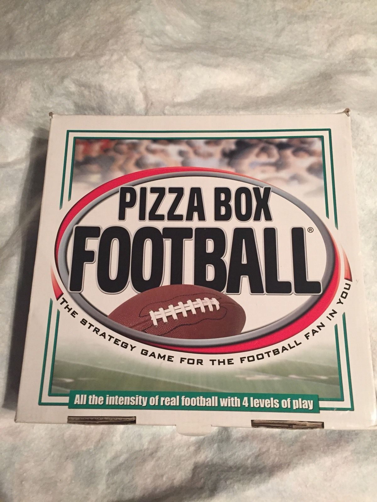 Pizza Box Football Strategy Game for the Football Fan 4 Levels of Play Complete - $17.34