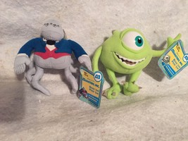 "NWT. DISNEY MONSTERS INC  Poseable Plush Mike Wazowski & Waternoose.  5"". - $19.26"