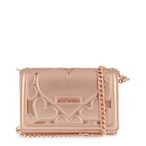 Love Moschino Womens Rose Gold Clutch with hearts - $158.01