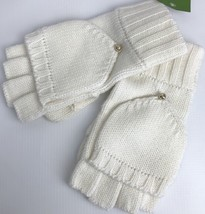 kate spade Womens Pop-over Gloves Mittens Creme Ivory Cream Knit Wool Blend - $43.00