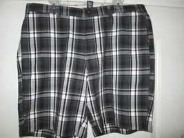 Chaps 22570 Lead Table Pin-Points Cotton Plaids Men' Shorts Black 38 MSRP$60 U97 - $22.79
