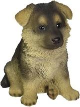 Hi-Line Gift Ltd Sitting German Shepherd Puppy Statue - $30.17