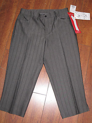Primary image for Sz Talie W0411 Womens Gray Formal High Quality New Capries Pants Waist 15""